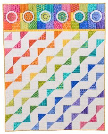 Jelly Roll Zig Zag Quilt Free Pattern By Benartex Rainbow