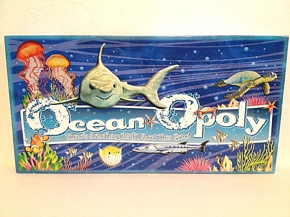 Oceanopoly oceanopoly monopoly board game late for the