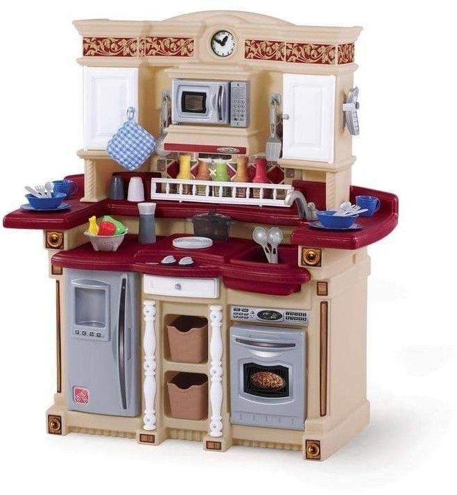 Kids Pretend Kitchen Play Set Toy 33 Pieces Accessories ...