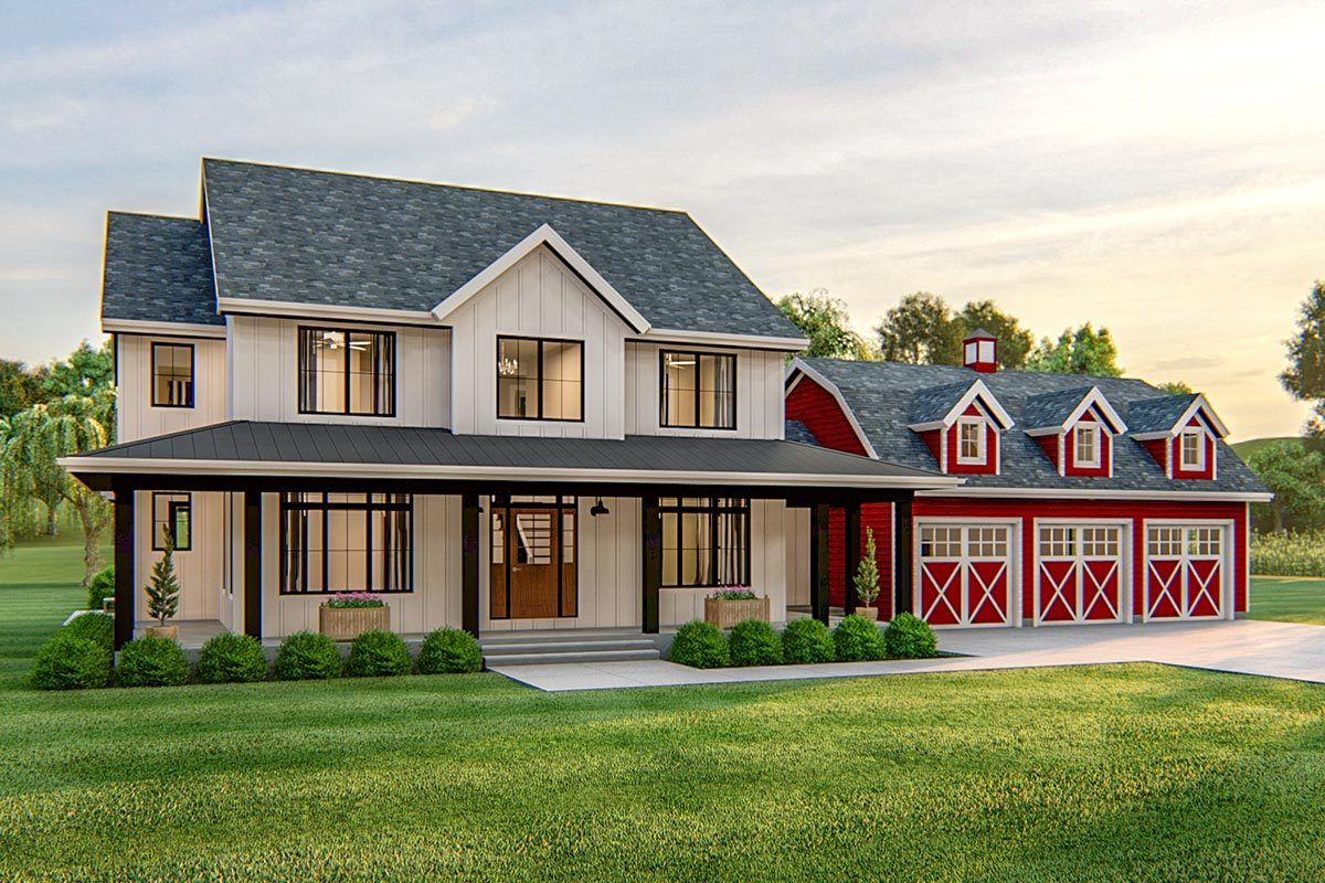 Plan 62772DJ: Exclusive Modern Farmhouse Plan with Front ...