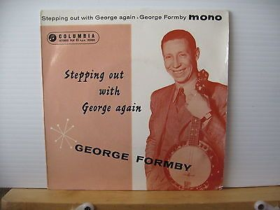 "GEORGE FORMBY Stepping Out With George Again COLUMBIA RECORDS 7"" VINYL EP"