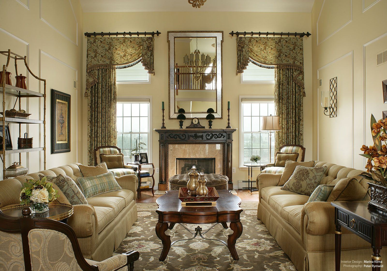Best Images About TALL WINDOWS On Pinterest High Ceilings - Traditional living room designs