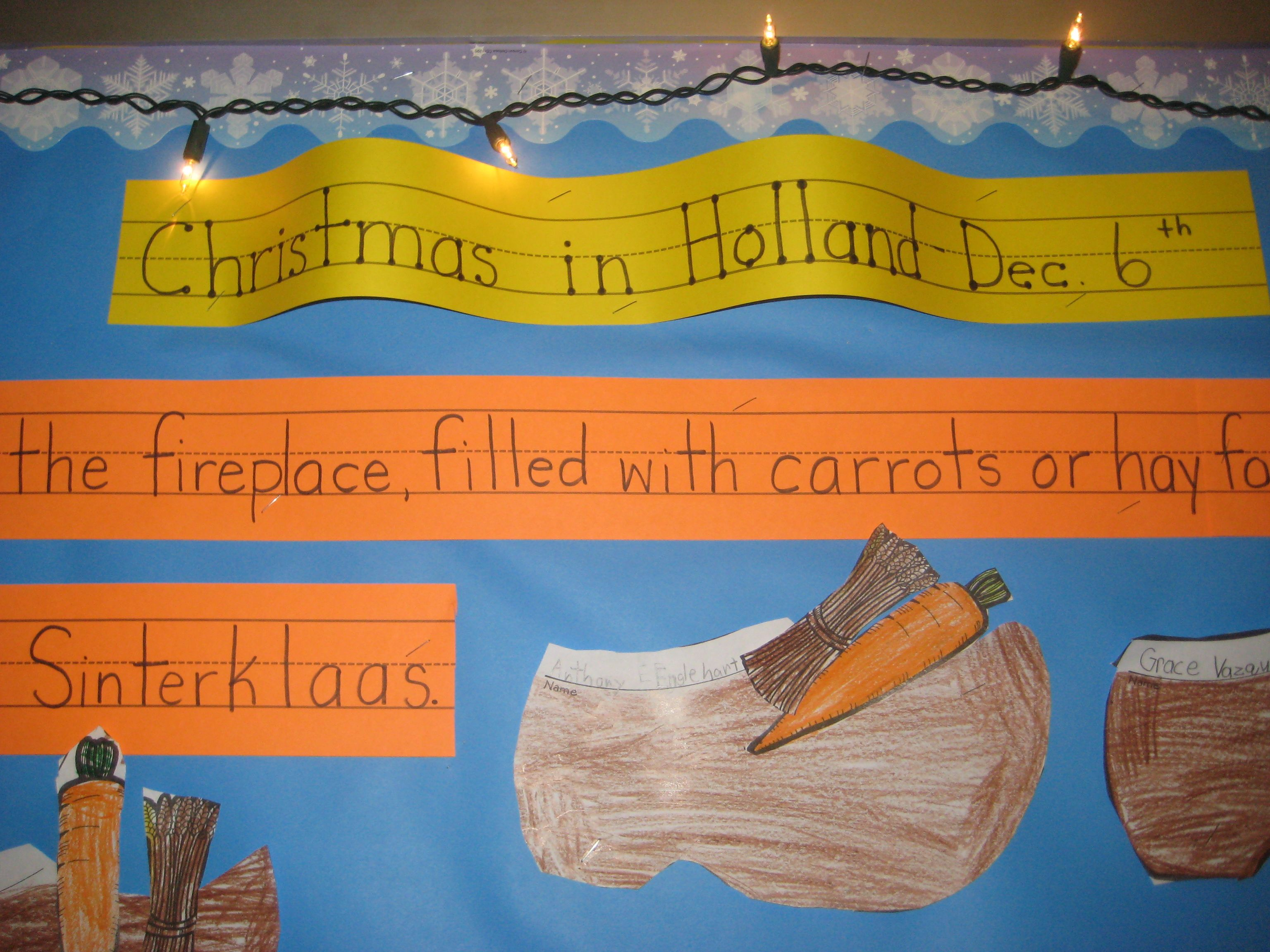 Christmas Around The World Each Grade Learned About The