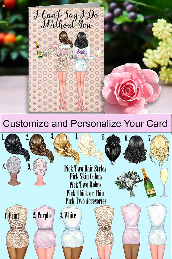 bridesmaid proposal bridesmaid card  beautiful customized