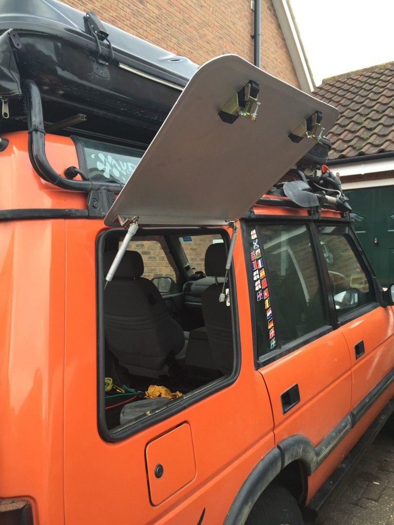 Side hatches step by step Land rover camping, Land rover