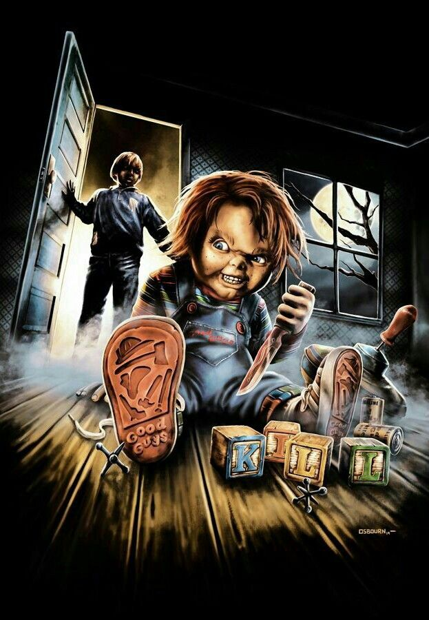 CHUCKY CHILDS PLAY Horror artwork, Horror movie icons