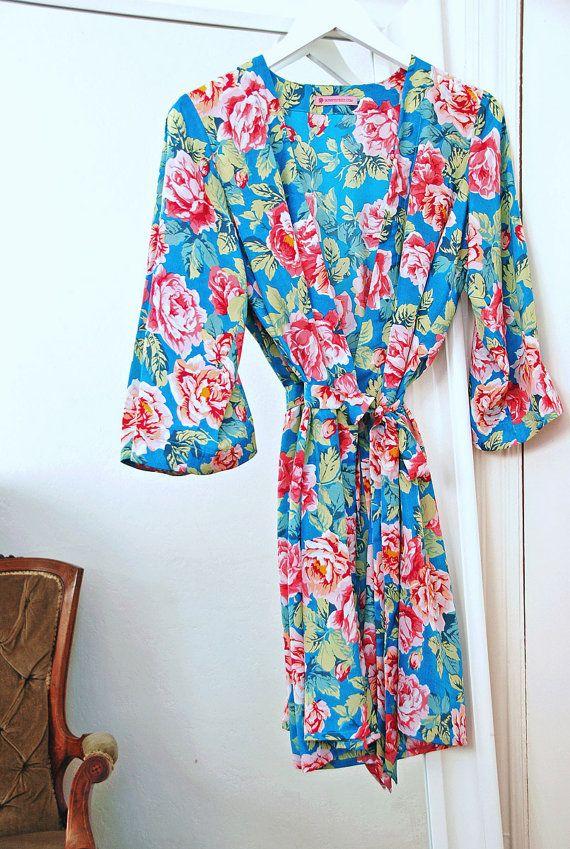 Bridesmaid Robe Sale, Bridesmaid Gift Sale, Kimono Sale, Floral ...