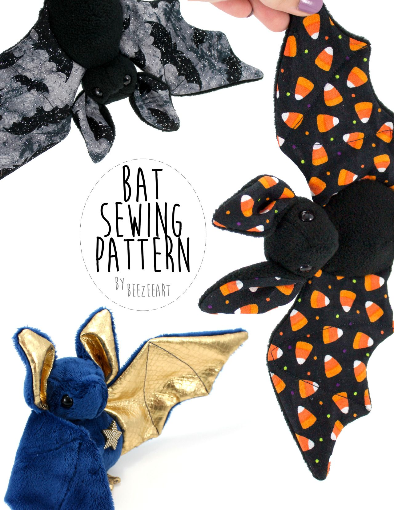 The bat sewing pattern is now available :) (And just as a note, most ...