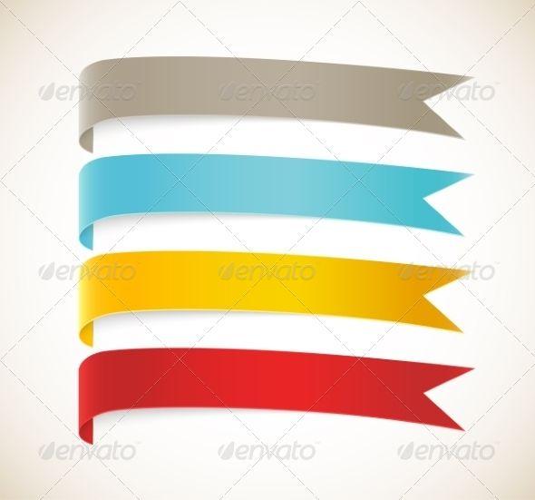 Set of Ribbons by Denchik Set of ribbons. Editable EPS 10 ...