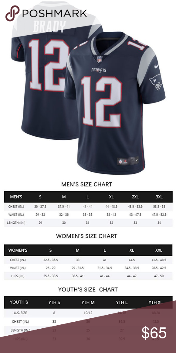Men S New England Patriots Tom Brady Jerseys Material 100 Recycled Polyester Mesh Side Panels For Extra Breat New England Patriots Womens Size Chart Patriots