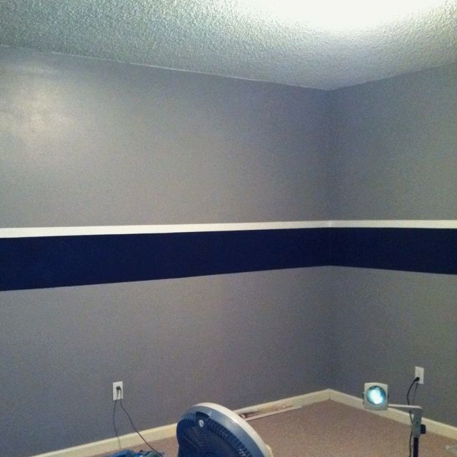 Got the walls done  Dallas Cowboys Game Room