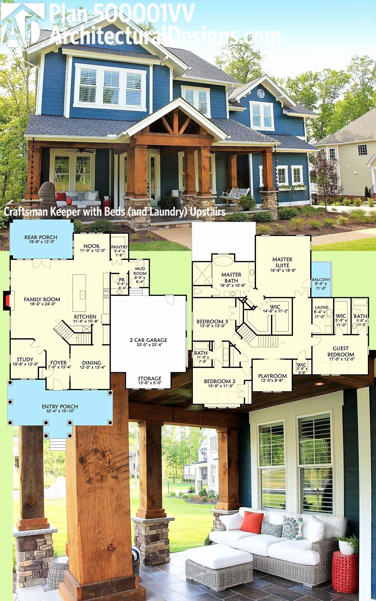 34 Totally Adorable Home Plans Craftsman One Story You Should Try Craftsman House Plans can also be affordable to build Shop or browse our broad One Story Farmhouse Plan...