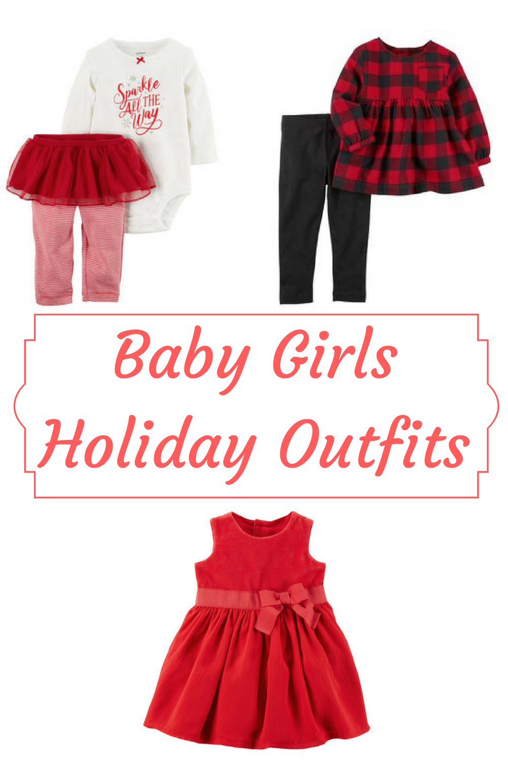 ec295598f6ff Baby Girls Holiday outfits - the most adorable dresses and outfits for  Christmas and winter for