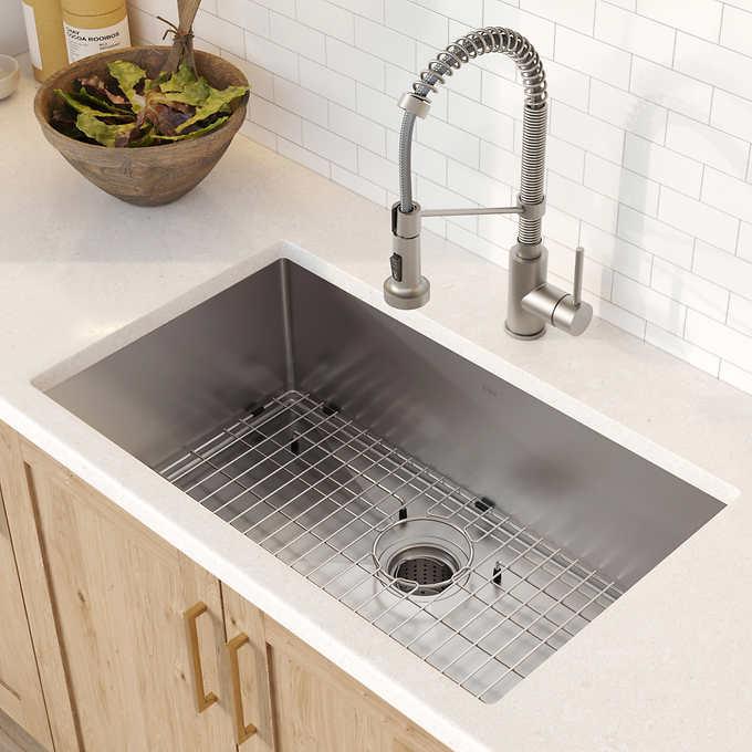 Kraus 30 Kitchen Sink Combo Undermount Kitchen Sinks Single Bowl Kitchen Sink Farmhouse Sink Kitchen