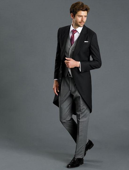 Chaqué negro y pantalón gris oscuro 131334 - Caramelo - BodaMás ... 845df285636