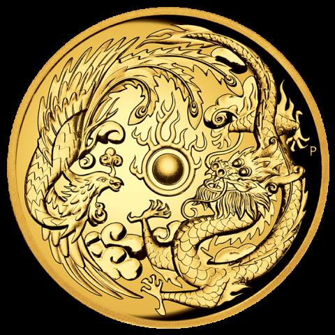 2017 Australia Perth mint Dragon and Phoenix silver one oz coin