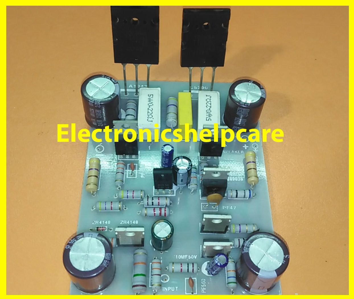 Here In This Article We Can Learn About Transistor Circuit Diagram Details Sub 150w Subwoofer Amplifier Board Kit 2sa1943 2sc5200 Of And Get The To Make