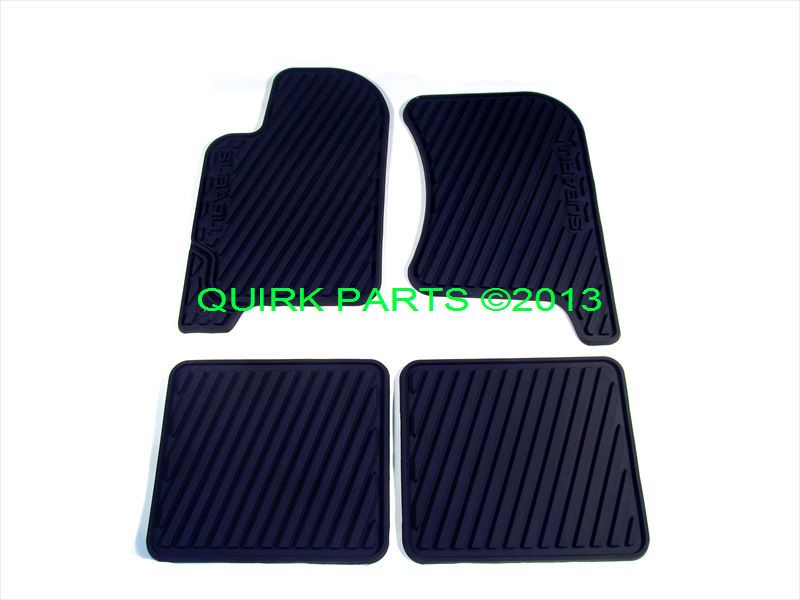 1998 2002 Subaru Forester All Weather Floor Mats Rubber Black Oem New Subaru Forester Subaru Vw Eos