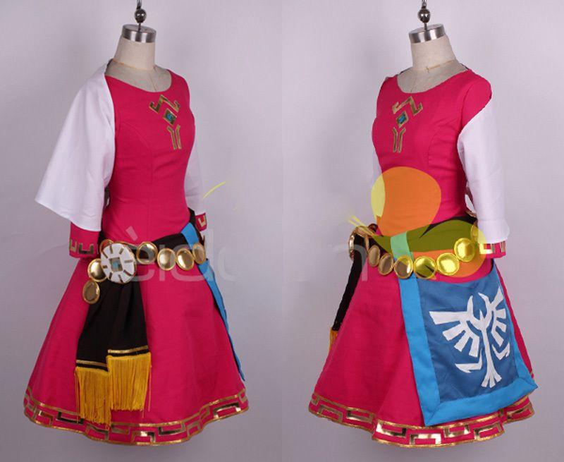 The Legend Of Zelda Skyward Sword Zelda Women Cosplay Dress