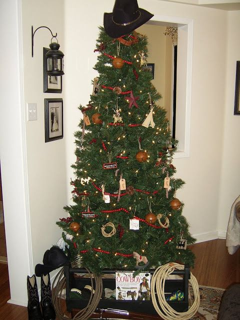 Western Decorated Christmas Trees Part - 16: Decorated Christmas Trees · Rustic Maple: Looking For More Cowboy-Farm  Ornament Ideas