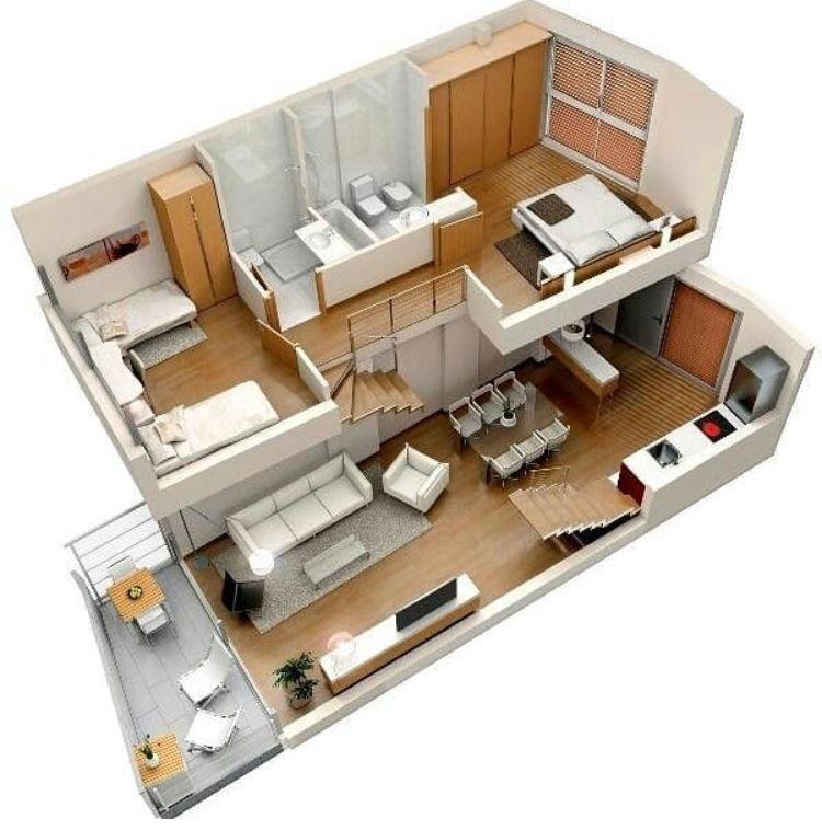 Loft Design Small House Design House Plans Tiny House Design