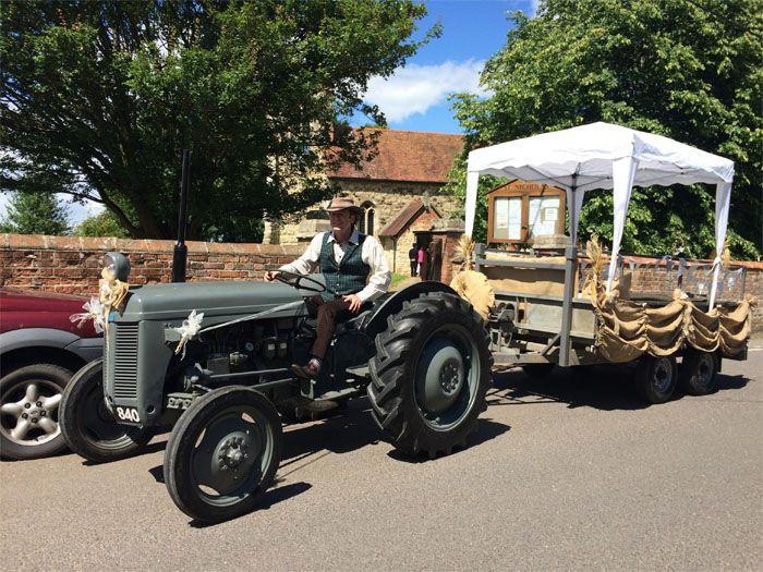 Five Alternative Wedding Transport Ideas Vintage Tractor Experience Weddingsite Co Uk