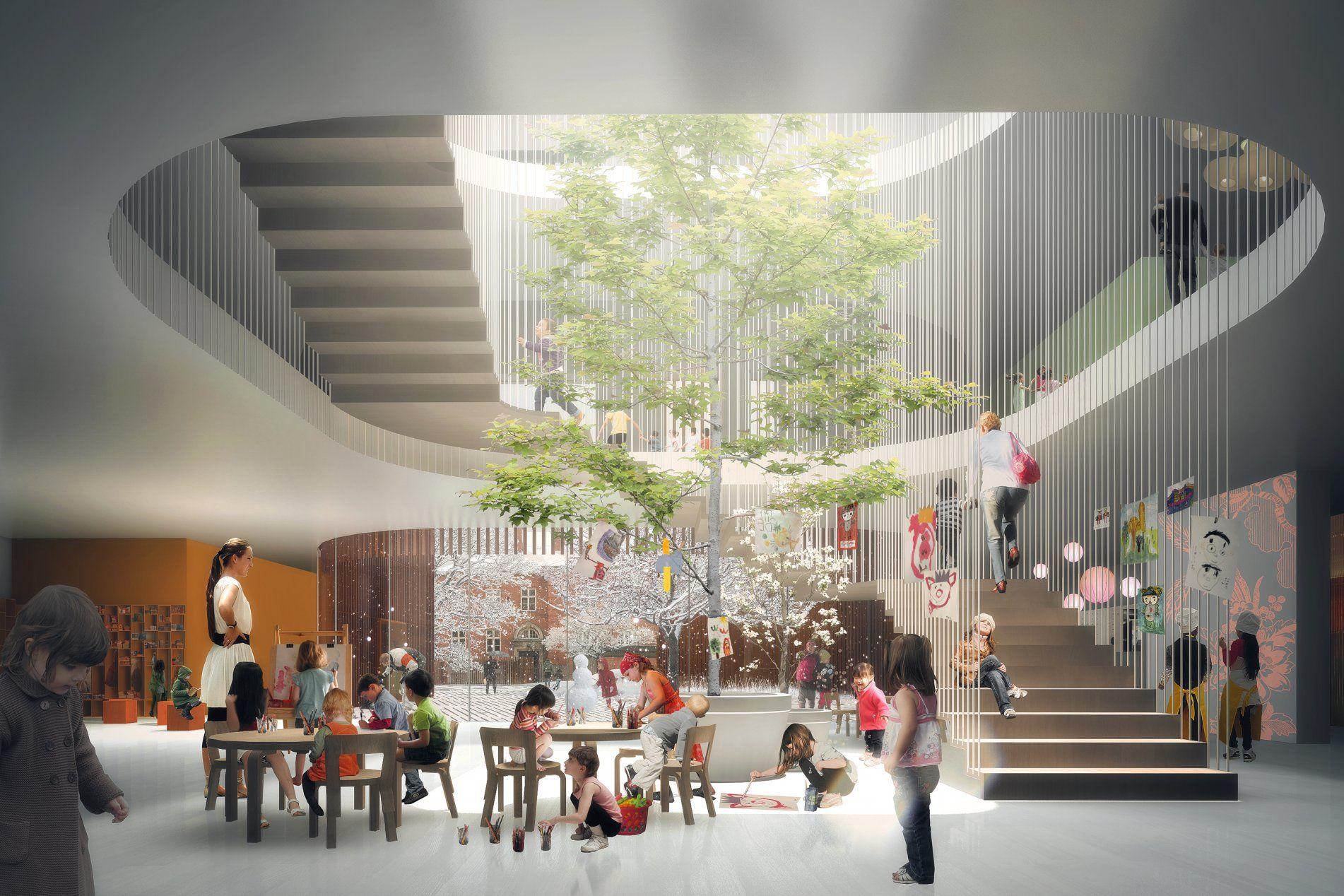 COBE - Forfatterhuset Kindergarten | Projects to Try | School design ...