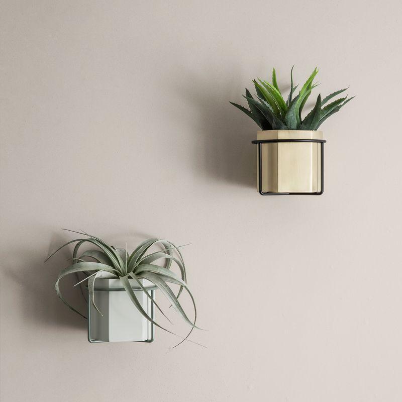 Planteholder til væggen grøn metal - ferm LIVING - BILLIG FRAGT