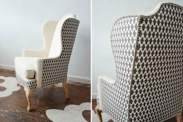 One Chair Two Different Fabrics Upholstered Chairs Upholstered