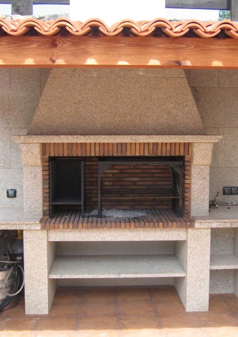 chimeneas cide barbacoa exterior modelo rosalinda fabricada en piedra y granito