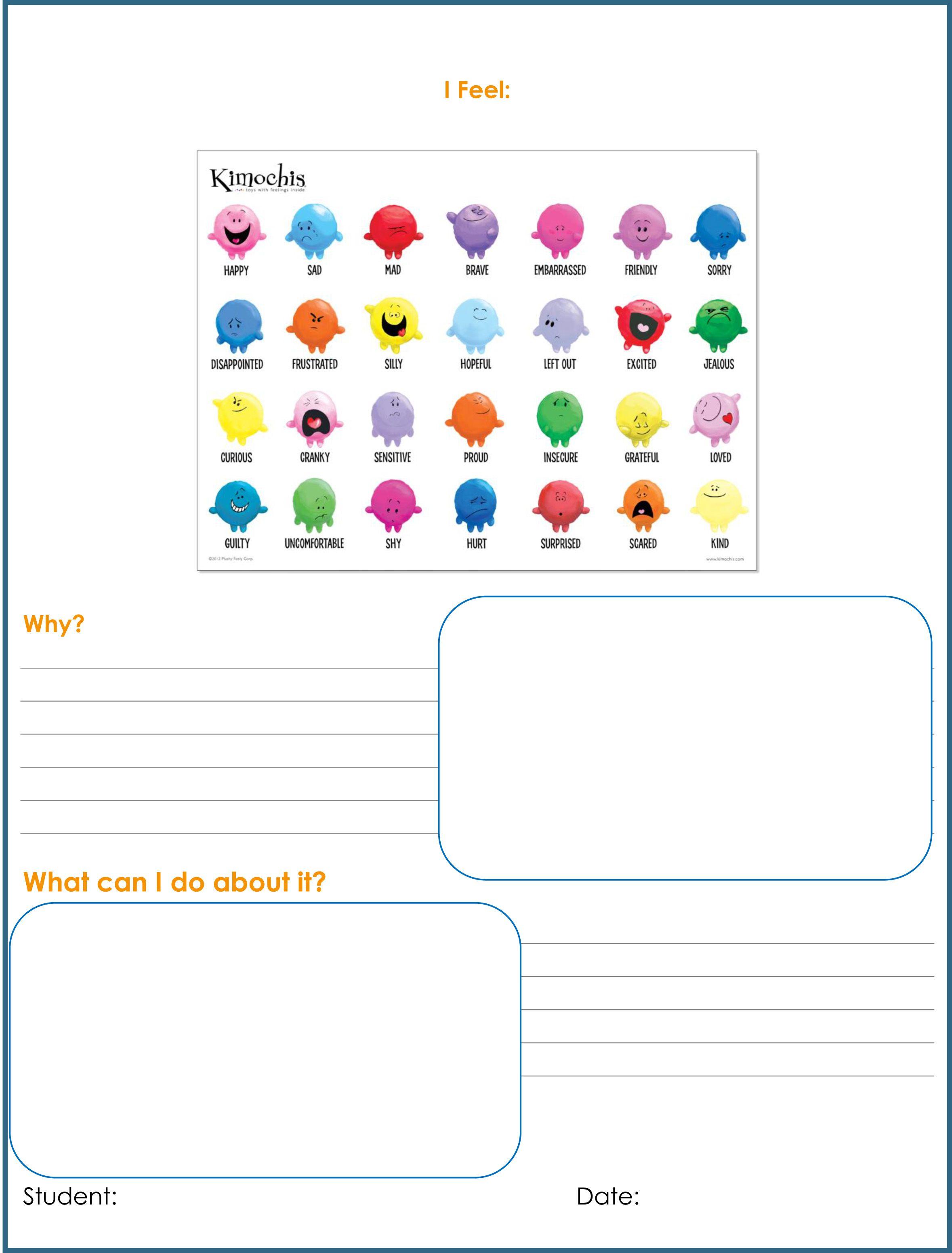 Feelings Worksheet 2