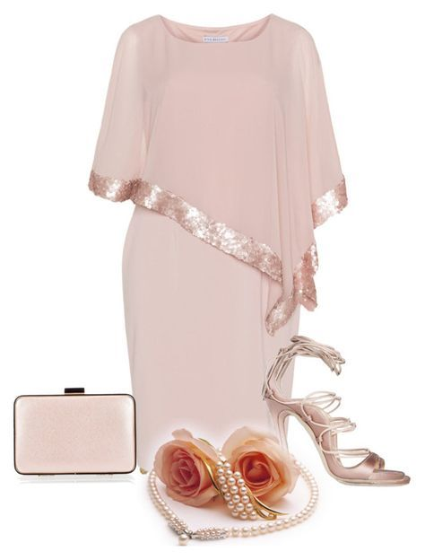 """""""Plus size cocktail dress."""" by cardigurl ❤ liked on Polyvore featuring Judith Leiber, Gina Bacconi and Coccinelle"""