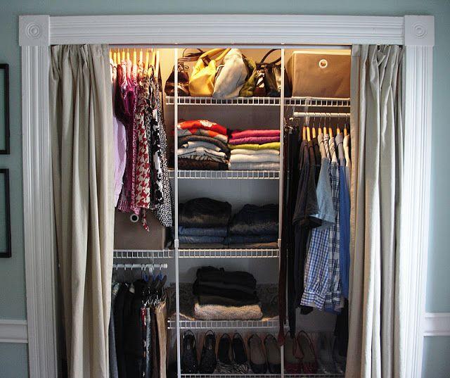 Closet With Curtains Curtains For Closet Doors Wardrobe Doors Closet Bedroom