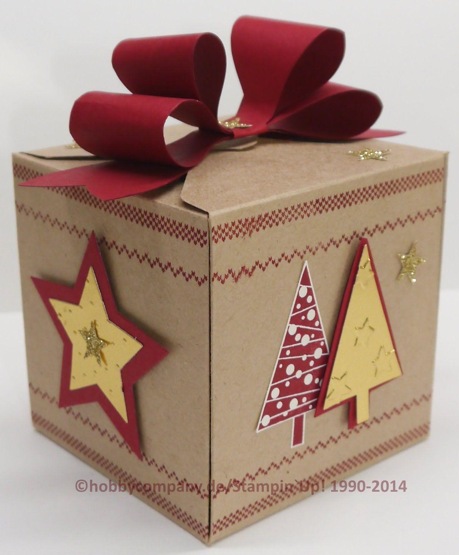 Anleitung für Geschenkverpackung mit dem Gift Box Punchboard