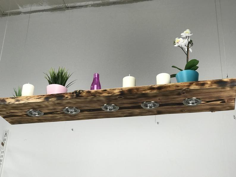 Houten Hanglamplariks Gevlamd Rustiek 60 Cm 150 Cm Hanging Lamp Wood Ceiling Lamp Vintage Living Room