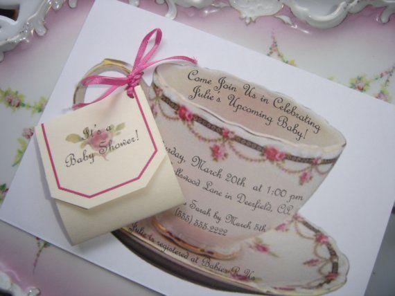 Teacup Invitation, High Tea Invitation, Tea Party Invitation     Customizable, Handmade By PartyBijou On Etsy