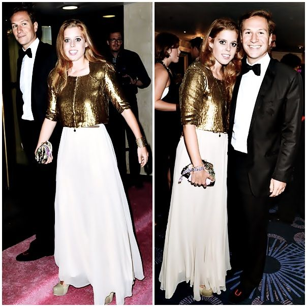 goodkingharry:  Princess Beatrice and boyfriend Dave Clark, Boodles Boxing Ball, 2013