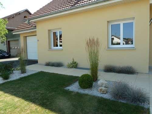 Chemins Graviers Dalles Avant Apres Renovation Espace Exterieur En Longueur Devant  Maison Jardin Entree Eden Design