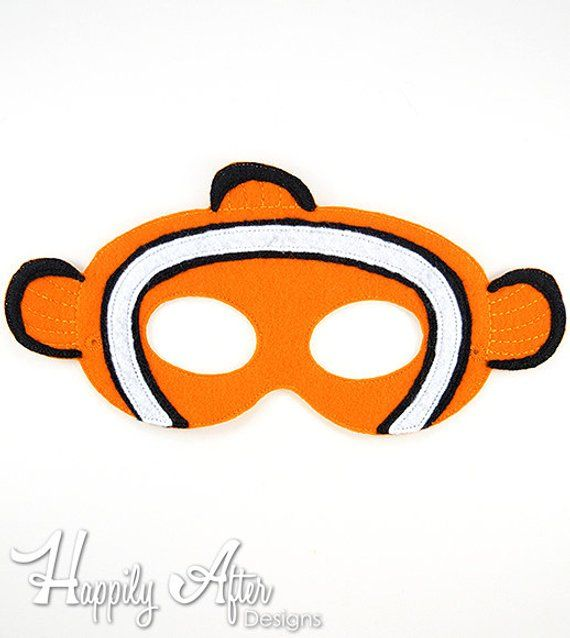 Clownfish Mask Embroidery Design Fish Machine ITH In The Hoop Maskembroide