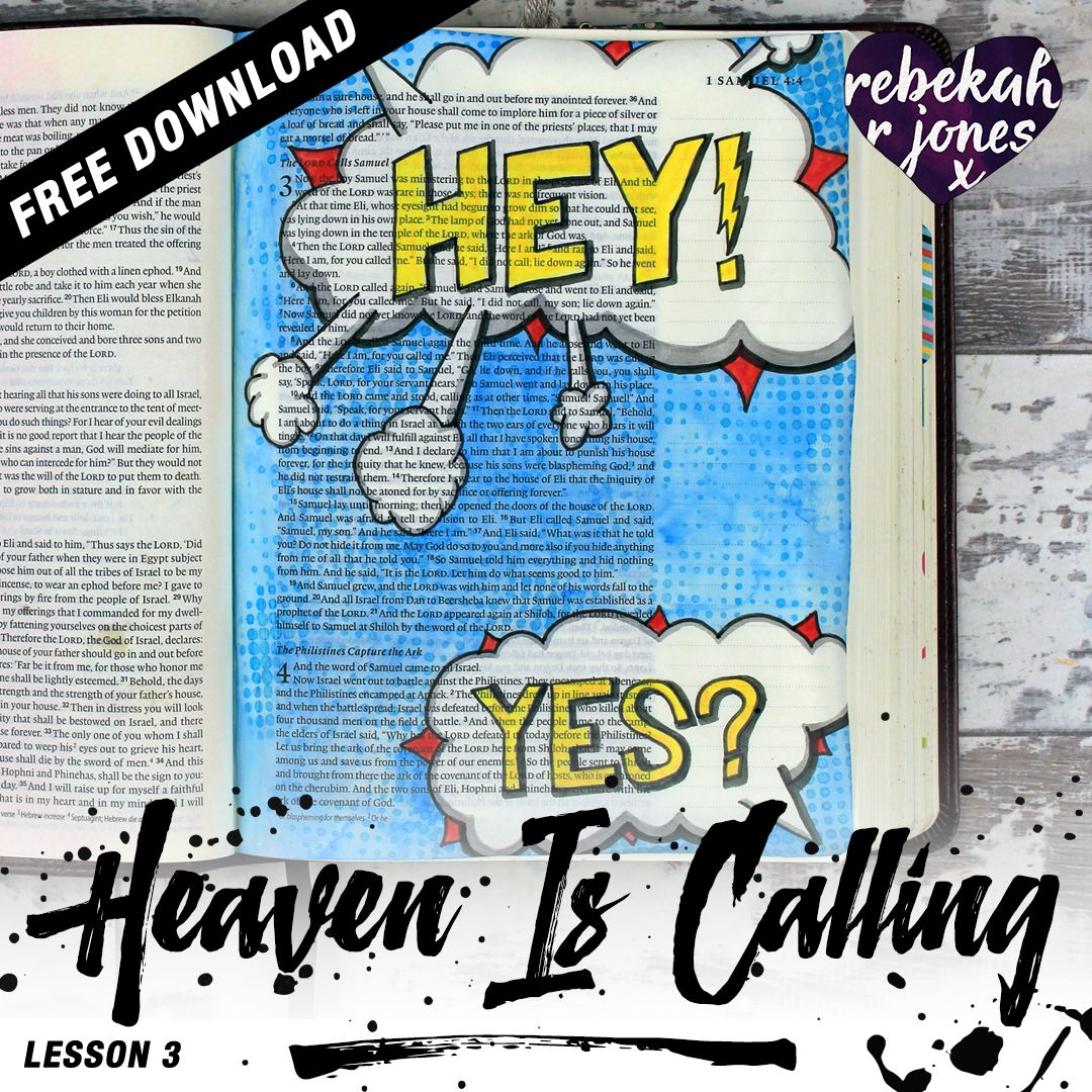 Heaven Is Calling Lesson 3   A Bible Art Journaling Challenge Series