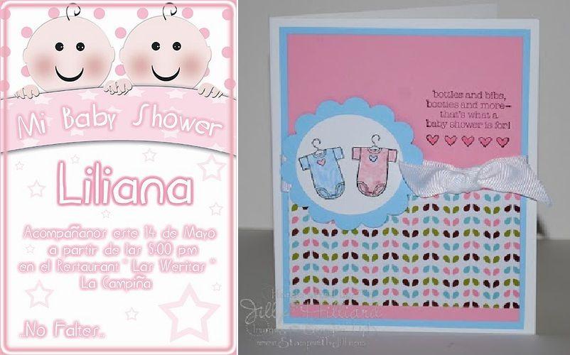 Invitacion Baby Shower De Gemelos 1 Jpg 802 500 Baby Shower De Twins Baby Shower Baby Shower