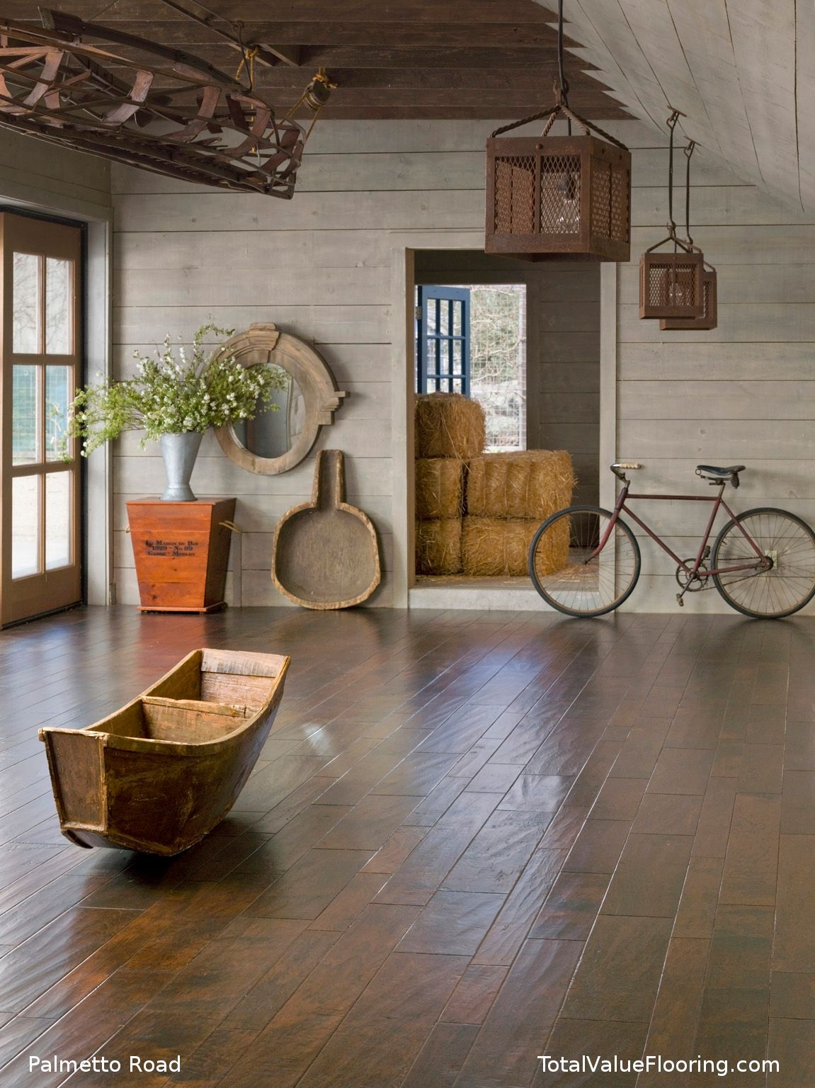 Maiori is a hand carved hickory wood floor