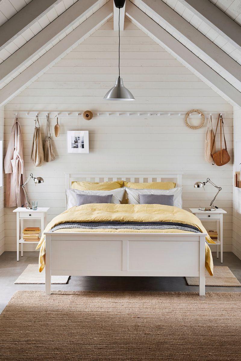 Hemnes Bettgestell Weiss Gebeizt Ikea Deutschland In 2020 Ikea Hemnes Bett Bettgestell Hemnes Schlafzimmer