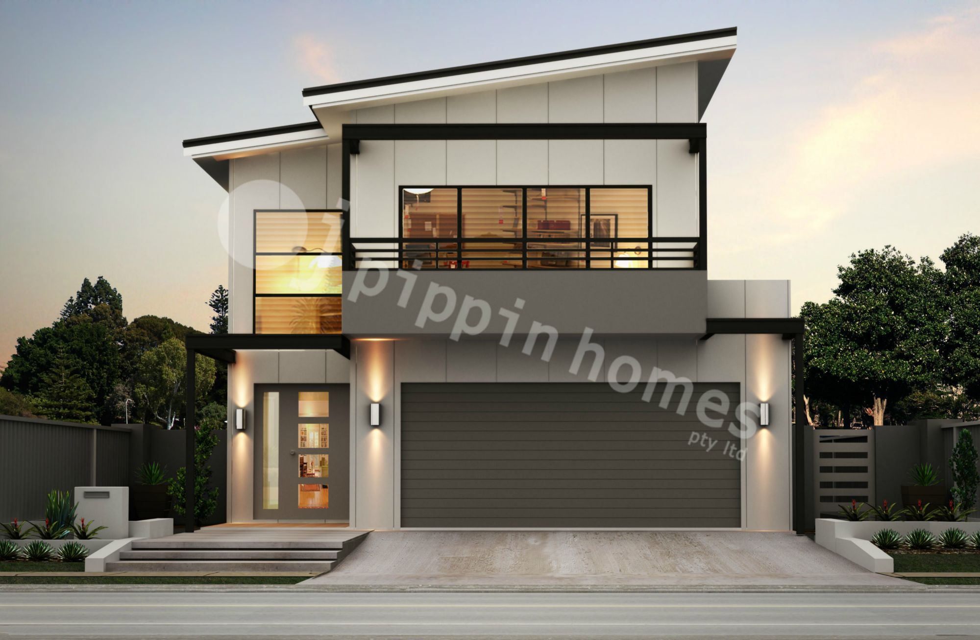 Doppelgarage modern pultdach  Bethaney with a Double Garage is a very functional four bedroom ...
