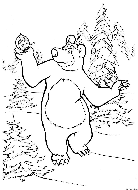 Masha y el oso para colorear en 2018 | masha y el oso | Pinterest ...