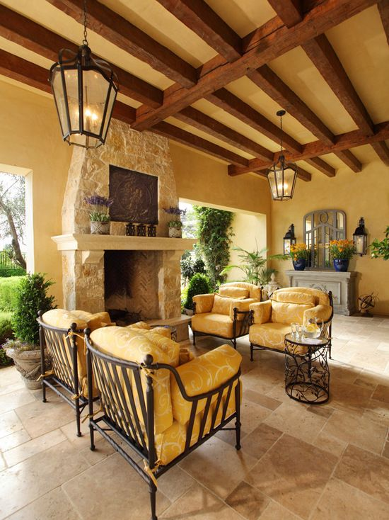 Best Patio Design Ideas & Remodel Pictures | Houzz ... on Houzz Outdoor Living Spaces id=98064