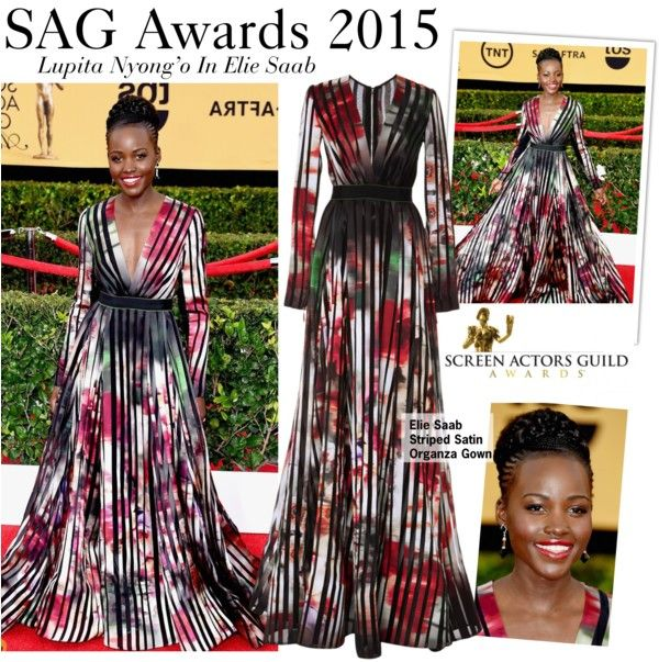 """SAG Awards 2015-Lupita Nyong'o In Elie Saab"" by kusja on Polyvore"