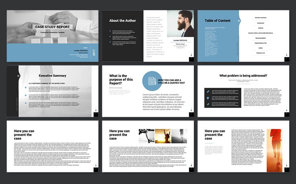 Case Study Report Powerpoint Presentation Template Powerpoint