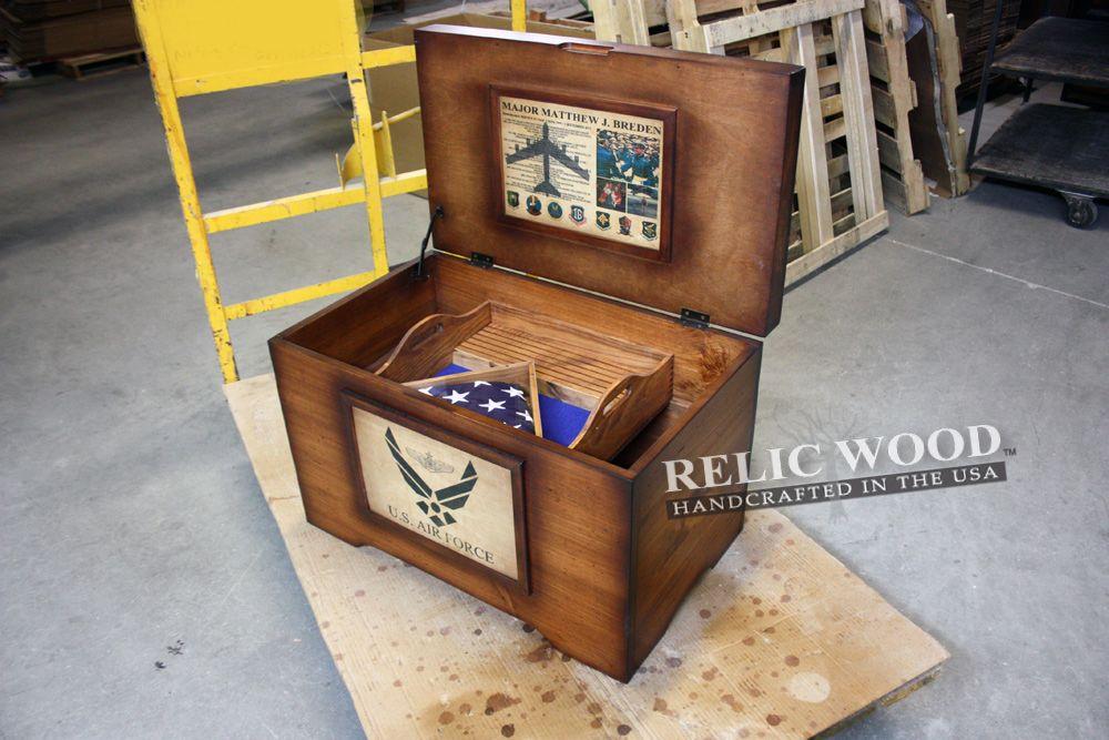 USAF Custom Retirement Trunk Custom retirement gifts