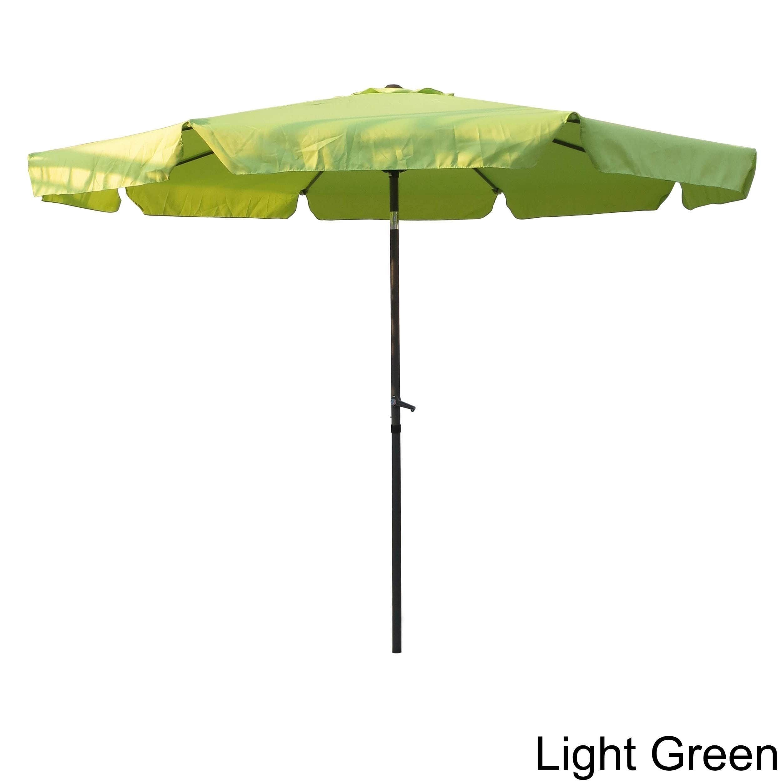 International Caravan Aluminum 10 Foot Patio Umbrella Navy Blue Caravan Lights Patio Umbrellas Patio Umbrella Lights